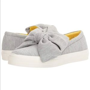 Nine West Gray Bow Sneakers